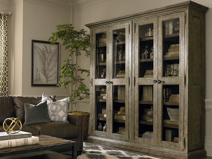 Compass Tall Double Display Cabinet