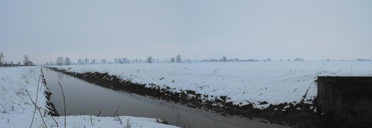 Roggia Offredi - Pieve San Giacomo - Provincia di Cremona - Febbraio 2013