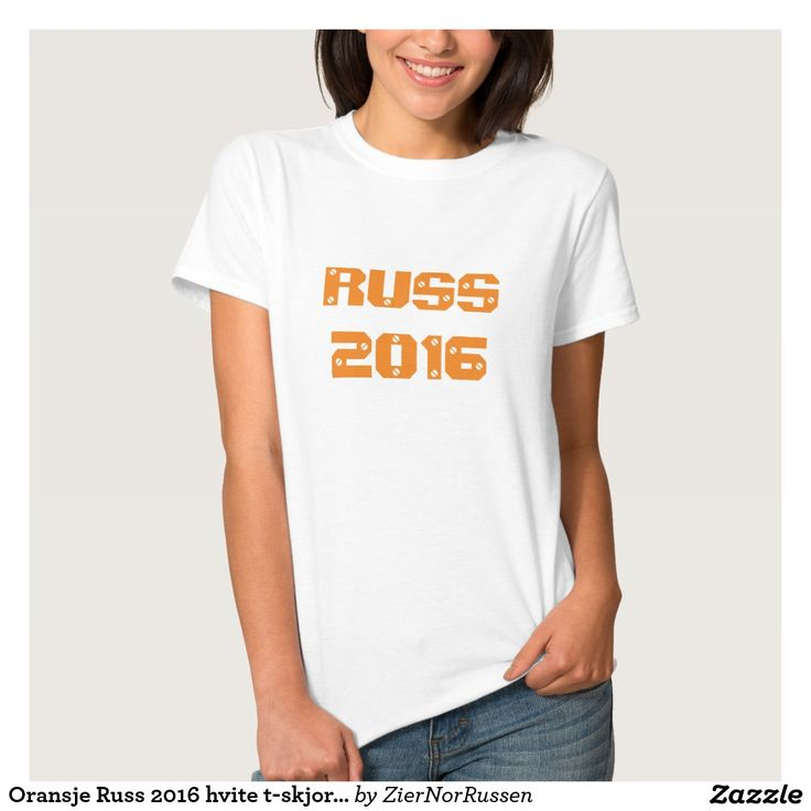 Oransje Russ 2016 hvite t-skjorte T Shirt