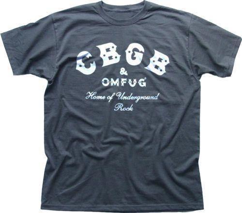 CBGB-OMFUG-Home-of-Underground-Rock-Punk-NYC-club-grey-cotton-t-shirt-9906