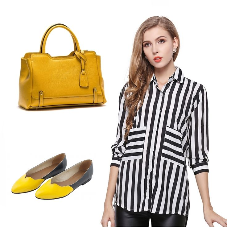 #OOTD: Pick this #AnnaLuchini yellow bag for happy days!