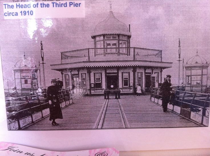The old, no longer existing Herne Bay Pier.