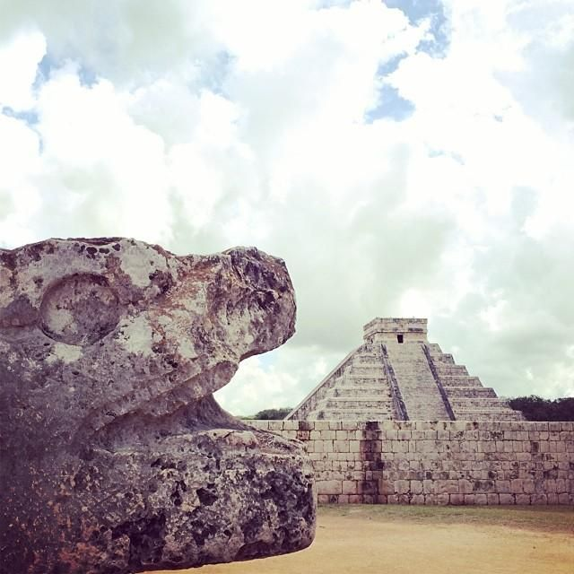 Walking through the ancient Mayan city of Chichen Itza in Yucatán, #Mexico brings travelers back in time. Photo courtesy of sallies on Instagram.