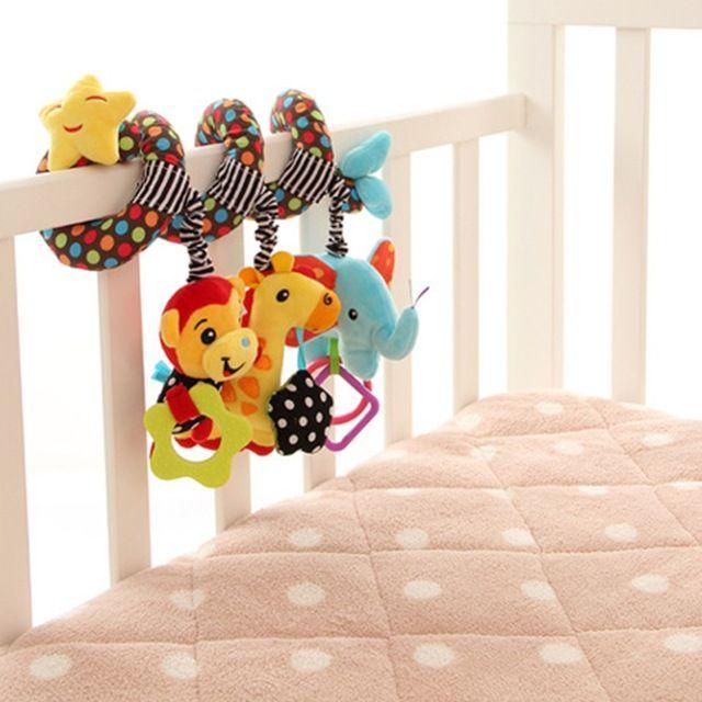 Nova chegada do bebê desenvolvimento qi macaco de brinquedo elefante cama berço suspensão com brinquedo do bebê sino brinquedo para o bebê Bebes celulares frete grátis