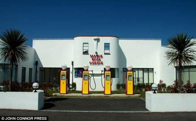 Former glory: This stunning art-deco petrol station in West Sussex has been converted into luxury apartments after being ignored for 40 years #cool #retro