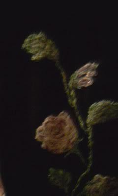 Una #longuettenera si trasforma per incanto e diventa speciale:#perlinage, #rosericamate#handmade