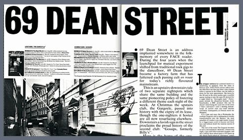 69 Dean Street, Soho, club culture, The Face magazine, London, 1980s. Clubbing, nightlife, Billys, Gargoyle, Red Studio, Blitz Kids