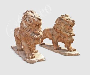 Lew z Nemei - rzeźba kamienna