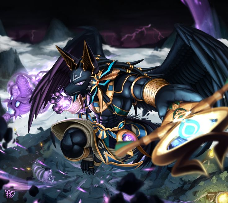 Guardian of Sandluma Mountains Dragon Den, Anubis by sonicolas Featuring Reincarnated Anubis From Puzzle and Dragons
