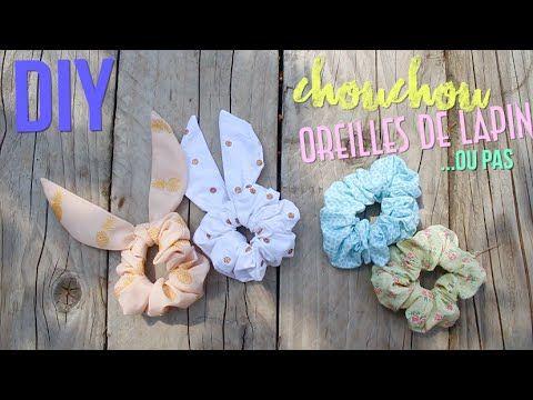 DIY┋SANS COUTURE : CHOUCHOUS OREILLES DE LAPIN OU PAS ... no sew bunnies ears hairties