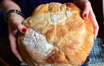 Pane cafone senza impasto