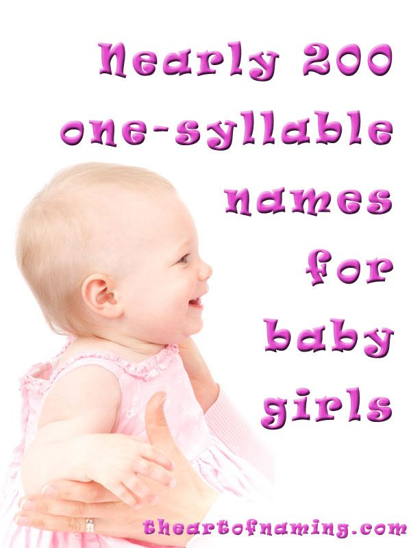 Looking for a short name? Here's a great list of one-syllable girl names! #babynames #babygirl