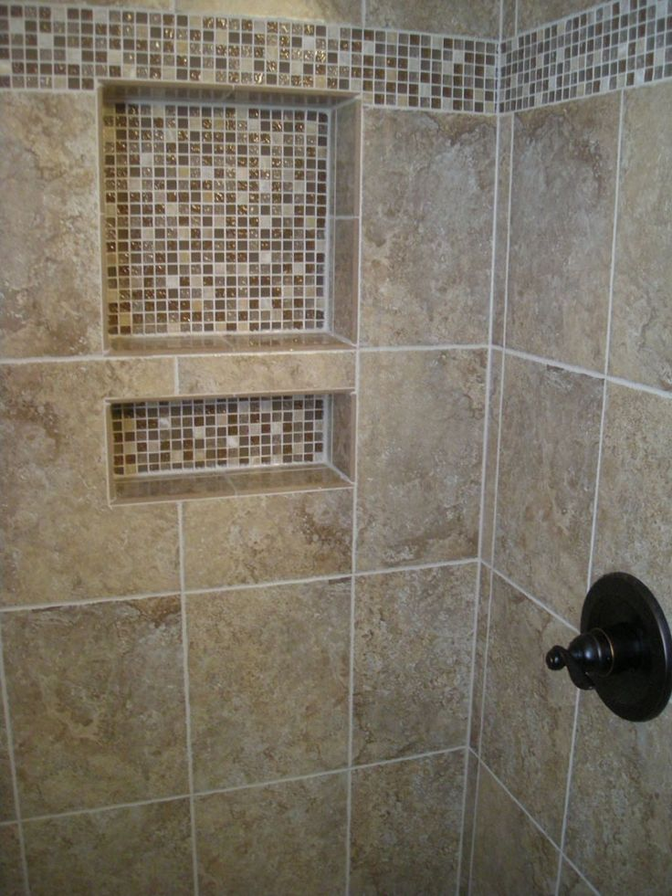 Shower Tile Designs Glass Mosaics Shower Mosaic Border