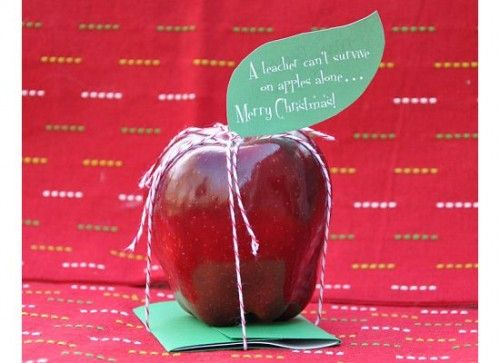 """""""A Teacher can't survive on apples alone"""" ...Teacher Gift: An Apple and"""