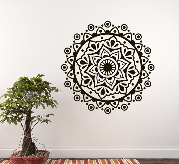 Bohe Mandala Flower Wall Paper Decor Yoga Studio Vinyl: 16 Best Yoga/Bohemian Decals Images On Pinterest