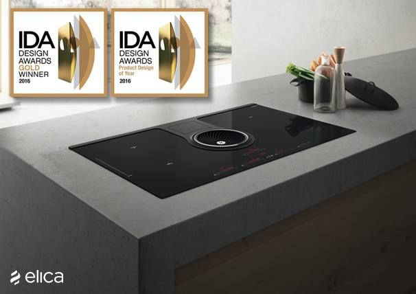 Since its market launch, #NikolaTesla, the induction cooktop with a fully integrated air suction system by #Elica has already collected a number of prestigious awards, including the IDA International Design Awards. Should be mentioned the #GOLD award in the Home Interior Products-Kitchen Appliances category and the mention of Product Design of the Year in the Home Interior Products category should be quoted. Design by Fabrizio Crisà