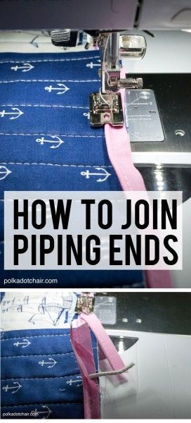 How to Join Piping Ends when sewing - full tutorial and instructions