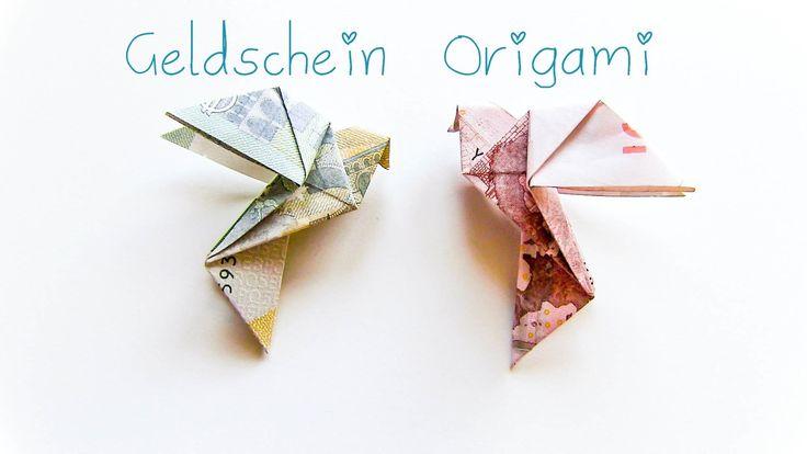 DIY Geldschein Origami Vogel - Geschenkidee