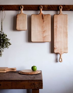 boards for cutting & hanging.