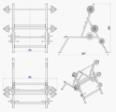 squat rack diagram rack wiring diagram kysor warren squat rack plan - assembly 2d drawing | plans to build ...