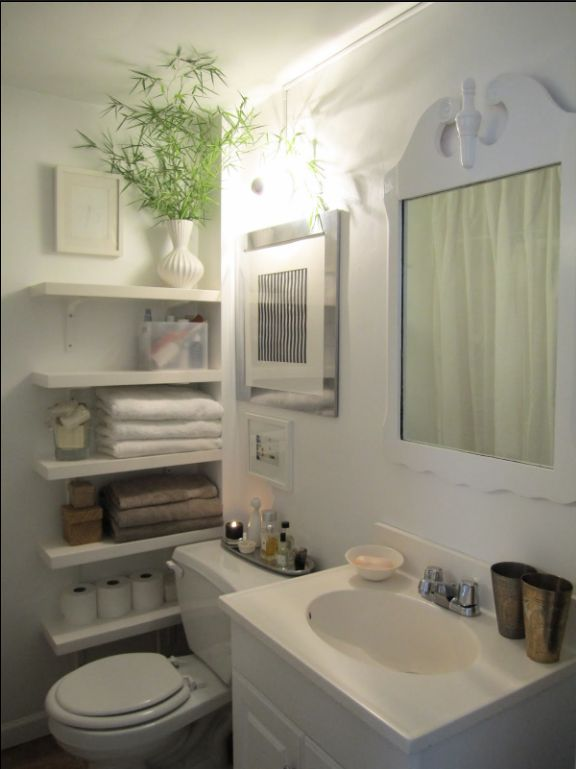 10 Awesome Small Bathroom Ideas 10) Shelves