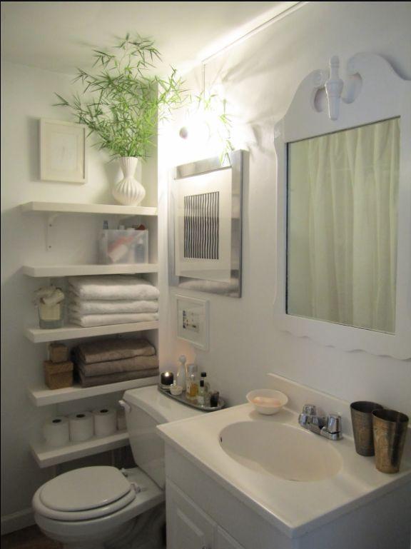 10 Awesome Small Bathroom Ideas 10) Shelves
