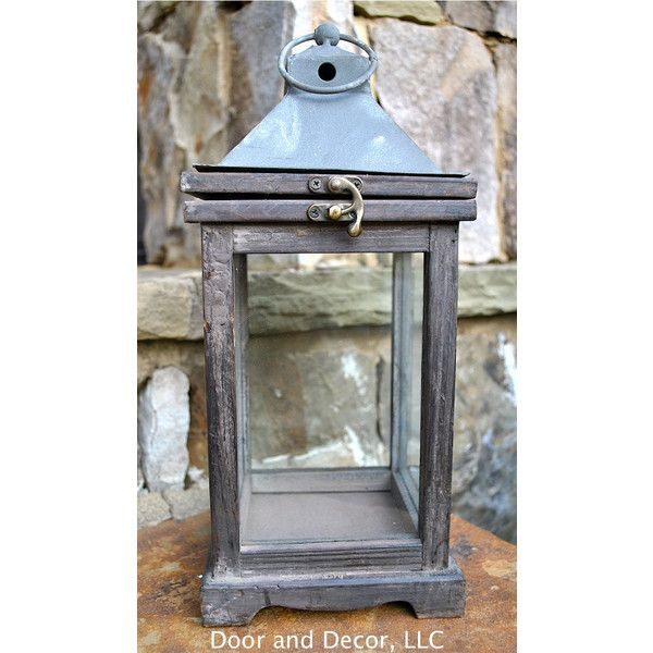 Lanterns~Rustic Lantern~Carriage Lantern~Antique Lantern~Wedding... (€34) ❤ liked on Polyvore featuring home, home decor, grey, home & living, home décor, autumn home decor, colored lanterns, spring home decor, pumpkin lantern and fall home decor