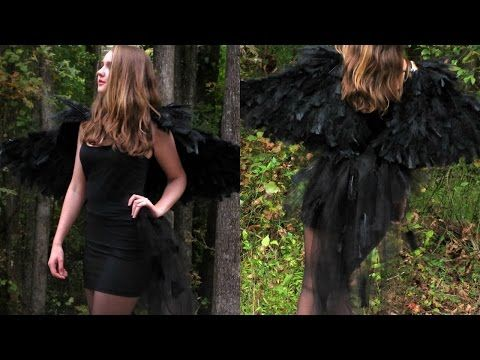DIY DARK RAVEN HALLOWEEN COSTUME - YouTube