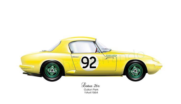 Lotus 26R (Elan) - Oulton Park - 1964
