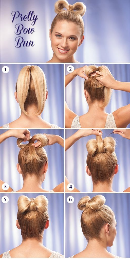 DIY Pretty Bow Bun Pictures, Photos, and Images for Facebook, Tumblr, Pinterest,…