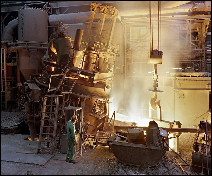 Electric arc furnace tapping - Electralloy, Oil City Pennsylvania