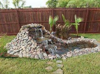 Tina's handicraft : photo tutorial - how to make a small  waterfall