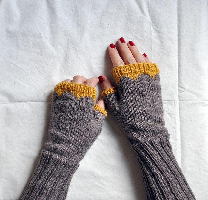 Pulswärmer Stricken Stricken Socken Und Handschuhe