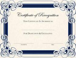Certificates of recognition - officially recognize students who have done a good job