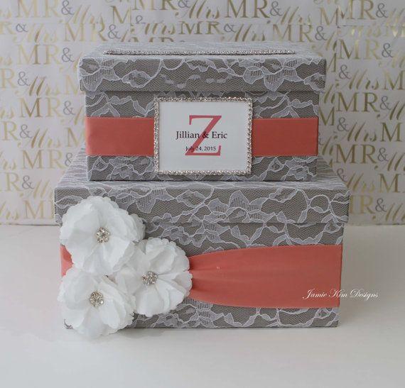 Laced Wedding Card Box Money Box Custom Card Box  Custom