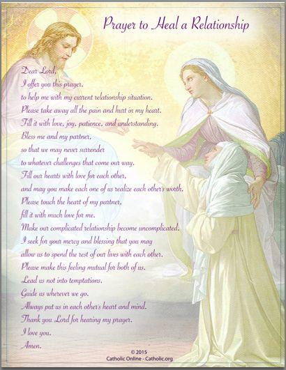 Prayers - Prayer to Heal a Relationship by Catholic Shopping .com | FREE Digital Download PDF