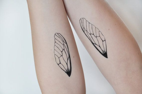 Insect Wings Temporary Tattoo Tattoo Temporary by JoellesEmporium, £3.00 #temporarytattoo #insectwings #etsy
