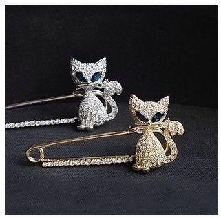 Gratis verzending fashion bruids sieraden boeket broche pin zilveren hart dieren/goud strass kristal broche voor vrouwen bruiloft(China (Mainland))