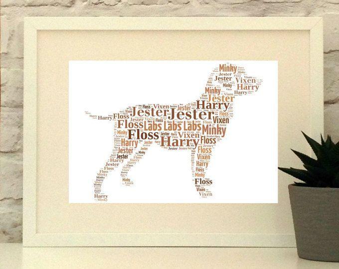 Labrador Retriever Dog Print, Custom pet portrait, unframed print