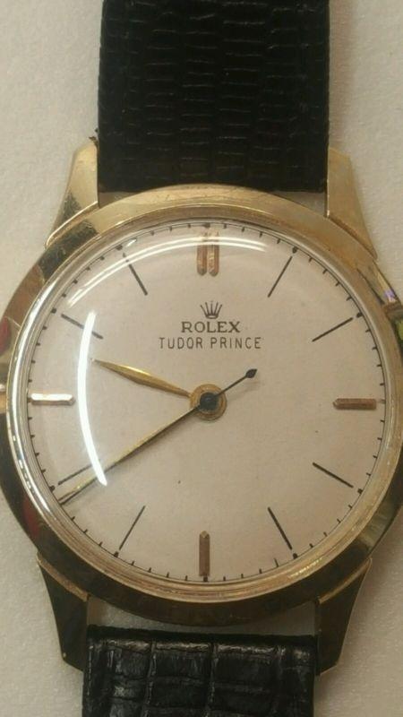 1950's 14kt gold ROLEX Tudor Prince mens wrist watch