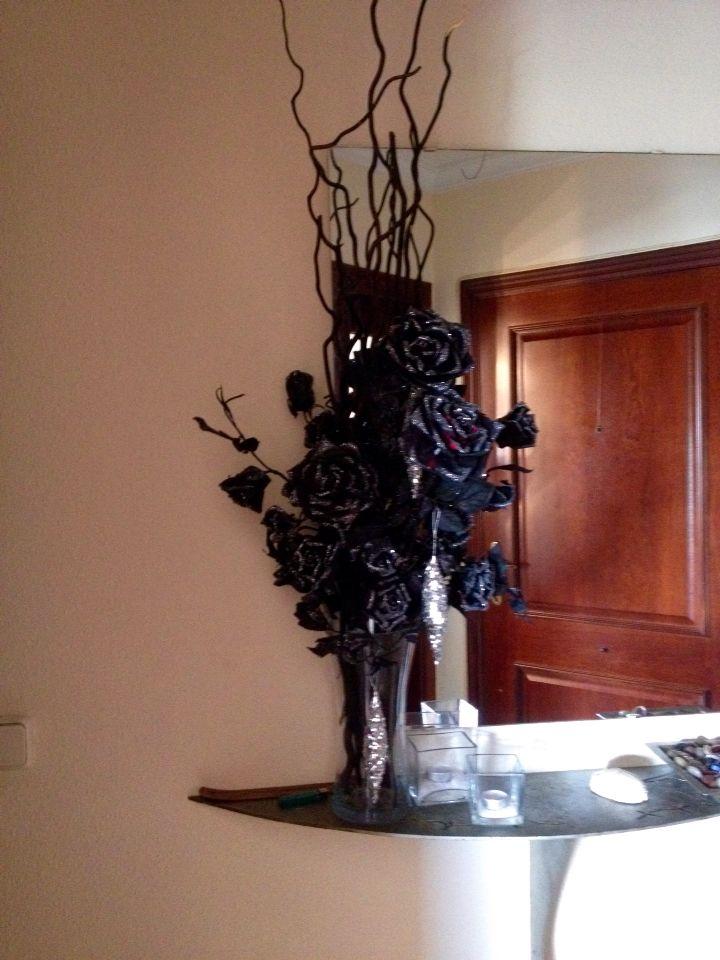 Festett selyemvirág sray-al