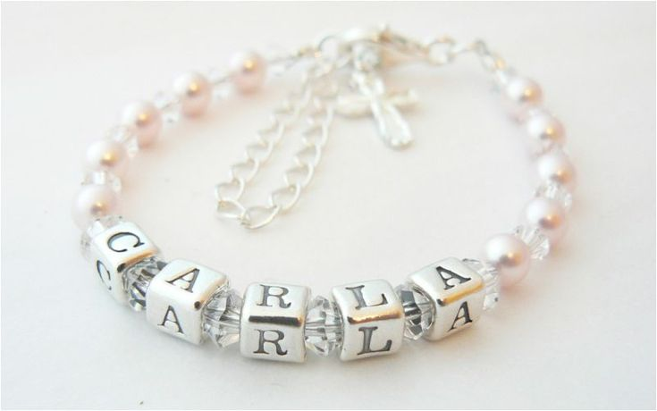 Christening Gift Ideas | Childrens Personalised Name Bracele