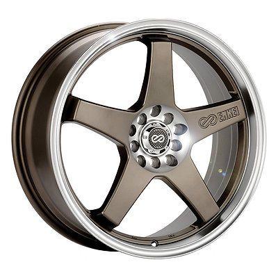 """17"""" Enkei EV5 Wheel Rim - Bronze 17x7 4x100 4x114.3 +45 446-770-0145ZP"""