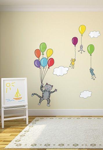 """""""I palloncini"""" sono l'ideale per decorare la cameretta del tuo bimbo e per farlo volare in alto con la fantasia!"""