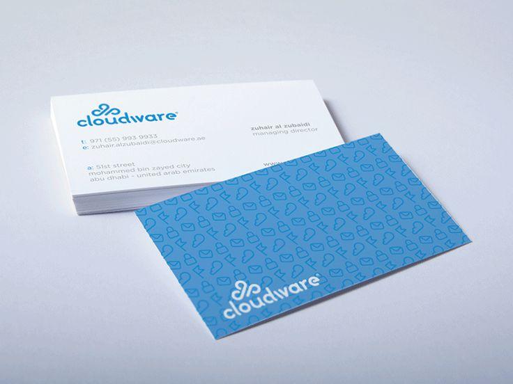 30 best business cards images on pinterest carte de visite cloud ware logo design business card reheart Choice Image