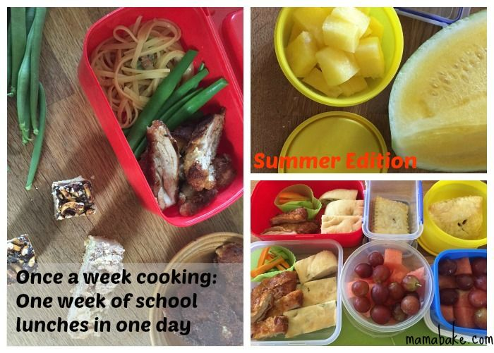 Once-A-Week Cooking Plan: school lunches: summer edition! (Member plans)