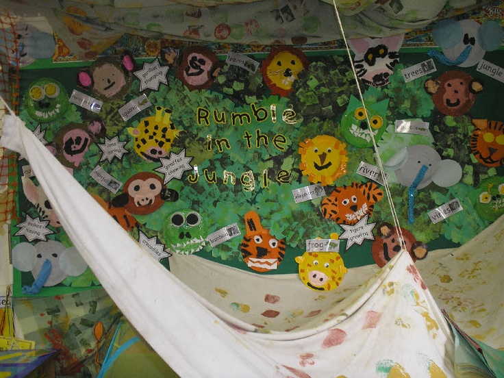 Rumble in the Jungle (story) classroom display photo.