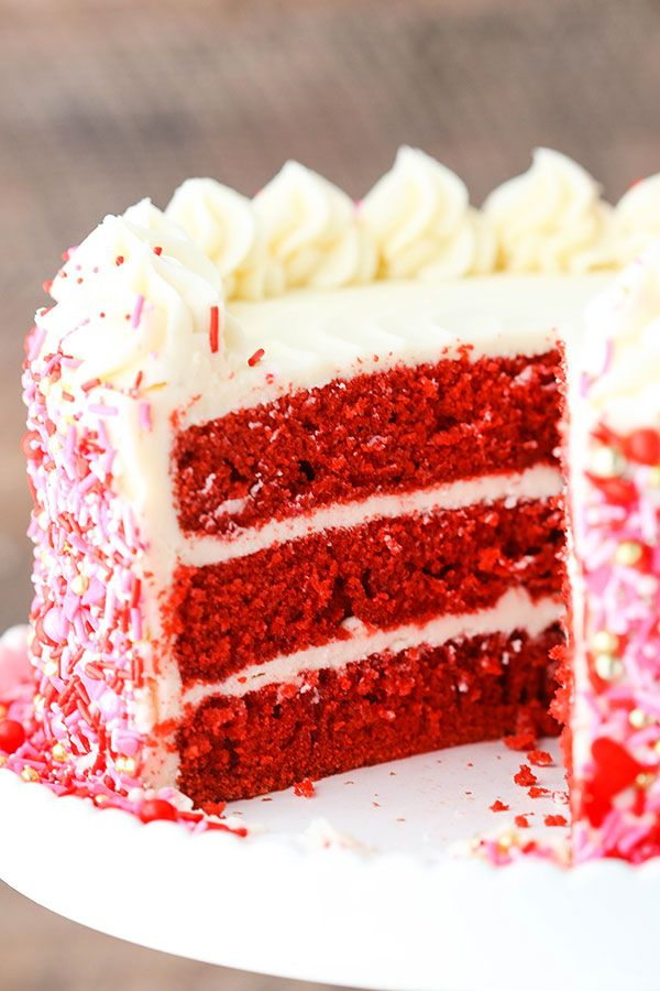 Red Velvet Layer Cake with Cream Cheese Frosting! ~ Life, Love, and Sugar