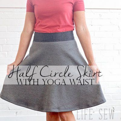 Half circle skirt tutorial with yoga waistband | ms | pinterest.