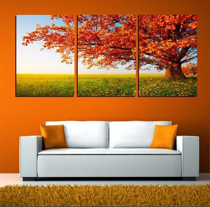 resultado de imagen para cuadros modernos para living naranja